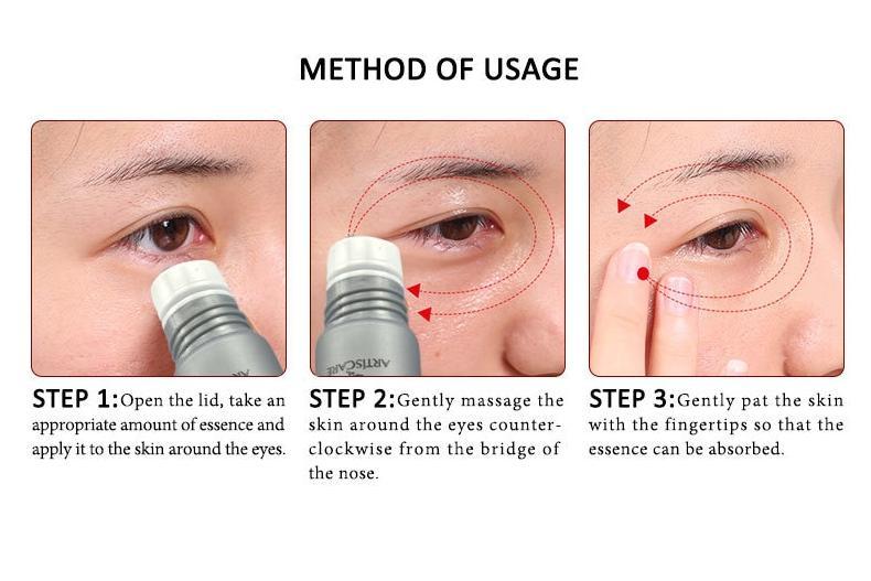 Eye Serum Roller Massager + Seaweed Collagen Gel Eye Patches
